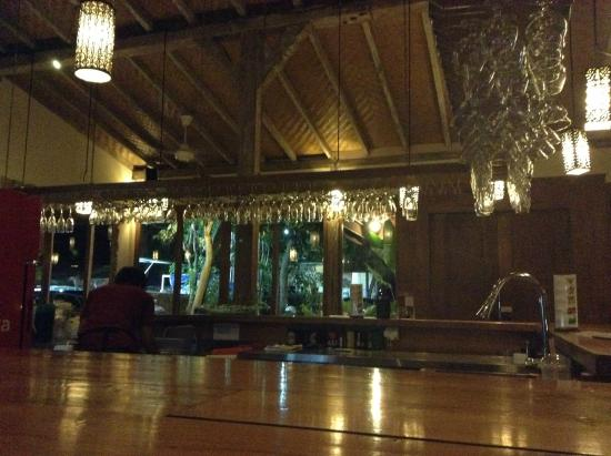 GaRaSi Restaurant, Bar & Coffeegarden: The view when you look at the front side of the restaurant