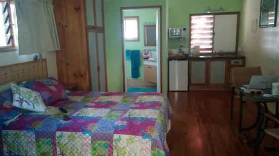 inside the room at Clifton Beach Retreat