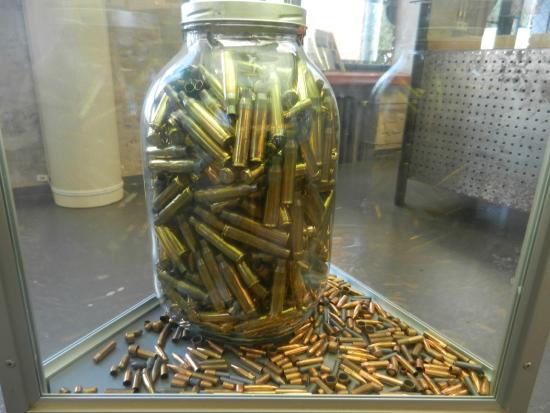 Lapua, Suomi: Cartridges in a jar