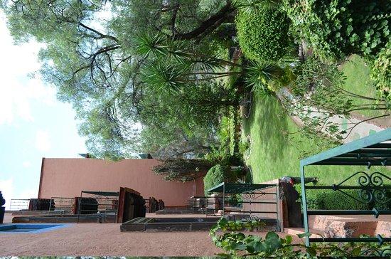 Mision Guanajuato: Vista da sacada do quarto para o jardim estilo mexicano