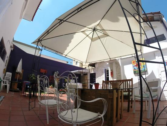Purple House Hostel: Quintal dos fundos
