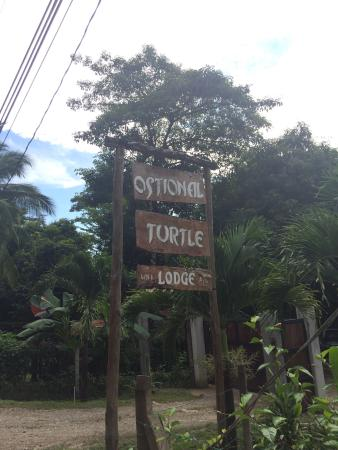 Ostional Turtle Lodge : Sign on road