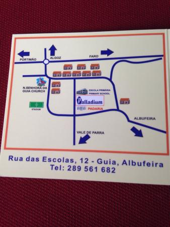 Restaurante Palladium: Small map where it is situated