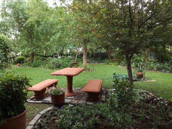 Clivia Place: The garden from the veranda of the chalet