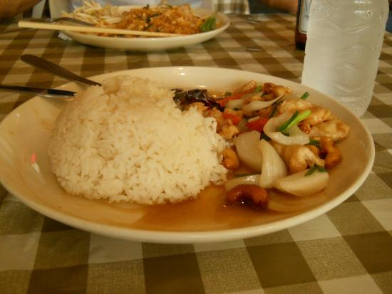 Chart Guesthouse & Restaurant : Rice and chicken stir