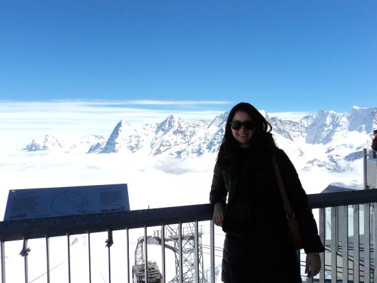 360° Restaurant Piz Gloria : The view from the terrace