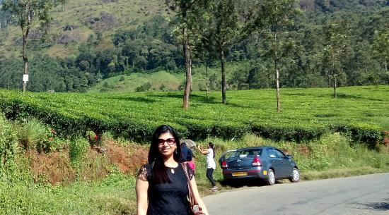 with the car in munnar - picture of southern safari, kochi (cochin
