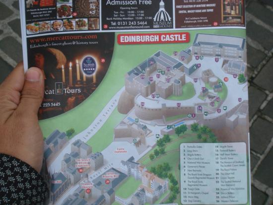 map of Edinburgh castle Picture of Edinburgh Castle Edinburgh