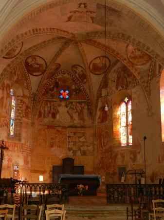 Mont-d'Astarac, فرنسا: Peintures murales, fin XVème siècle
