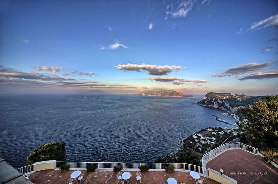 Hotel San Michele : view of Capri and Vesuvio from our terrace