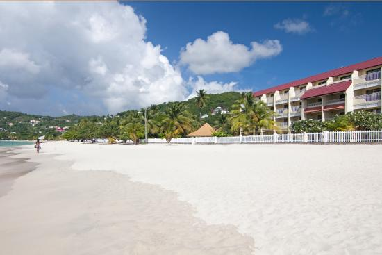 Grand Anse Beach with Executive Beachfront Rooms in background