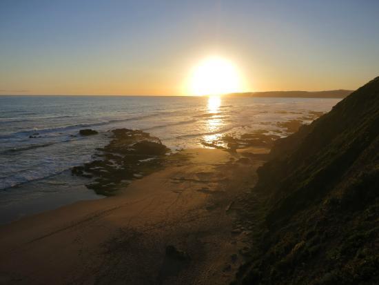 Whale's Way Ocean Retreat: Sonnenuntergang im November