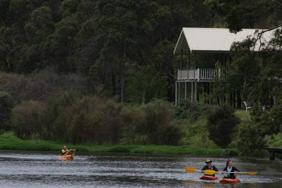 Nannup Valley Chalets: Canoeing on the dam