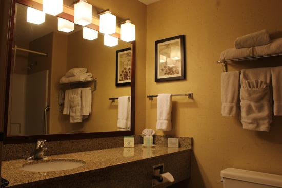 Comfort Suites Airport: Suite Bathrooms