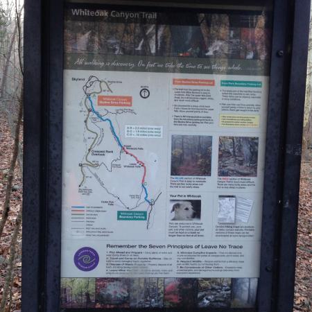 White Oak Canyon Trail: Trailhead