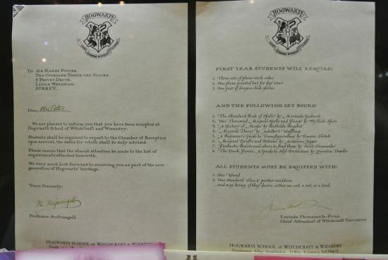 Harry'S Acceptance Letter From Hogwarts - Picture Of Warner Bros
