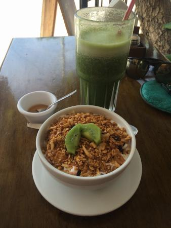 Elements of the Island: Chaya and piña juice! Delicious breakfast everyday