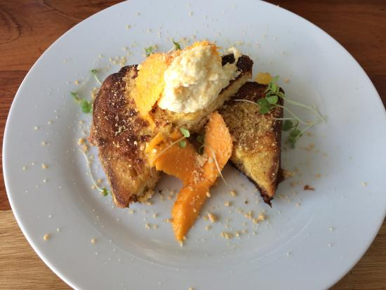 Taste Fiji Kitchen: French toast with whipped ricotta, mango, pineapple and ginger crumble