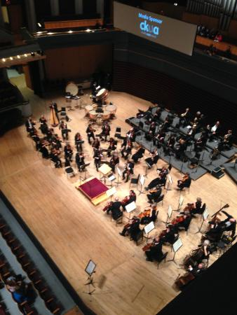Calgary Philharmonic Orchestra: View from the mezzanine.