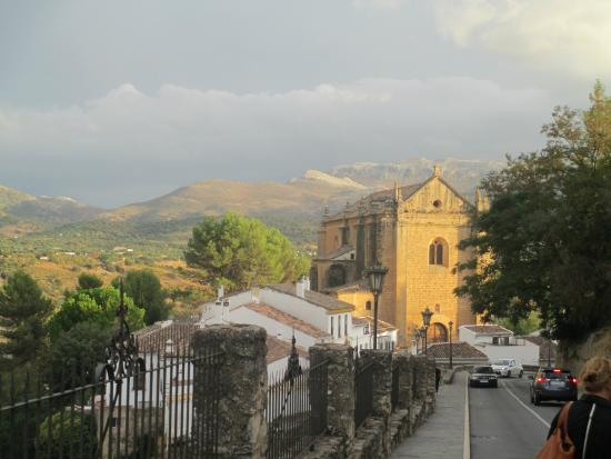 Hotel Jardin de la Muralla : Church, Hotel to the left