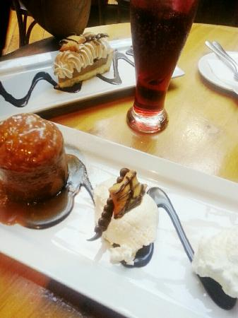 Lone Star: Like the meals, the Desserts are also large enough to share.