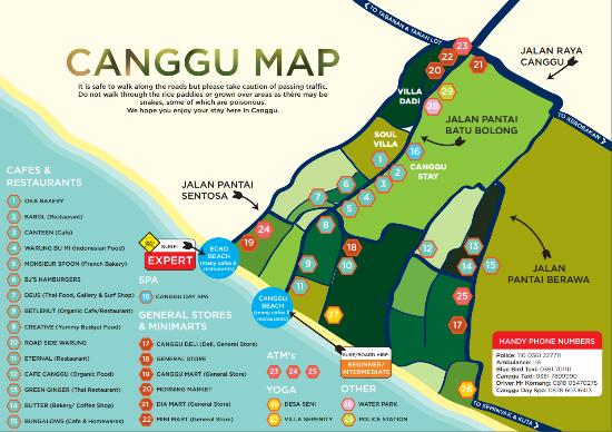 Canggu Beach: map of Canggu