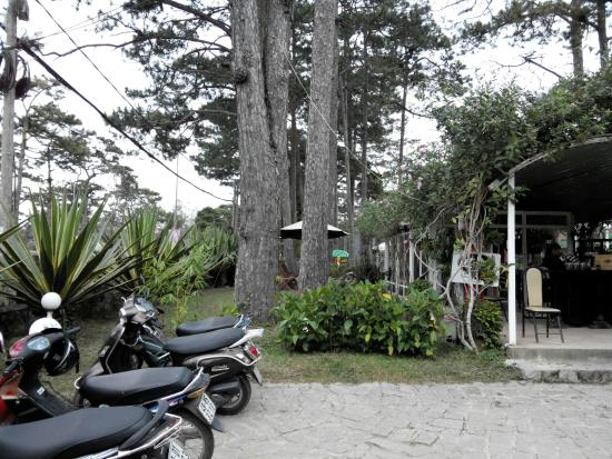Dalat Cadasa Resort: Để xe, quán cafe