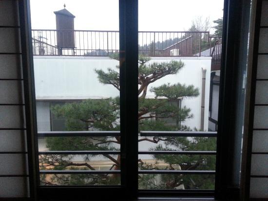 Oyado Yamakyu: panorama dalla camera