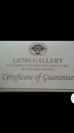 Gems Gallery Pattaya: certificar de garantie