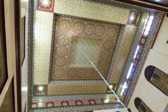 Restaurant Zitouna : Het plafond van de eetzaal