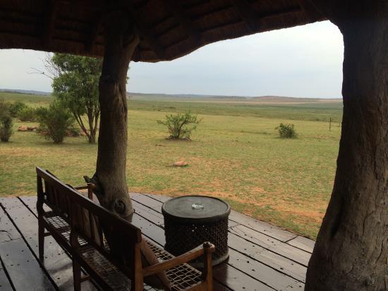 Pitse Lodge : Uitzicht vanuit kamer 1