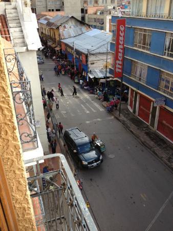 Hotel Rosario La Paz : Vue de la fenêtre