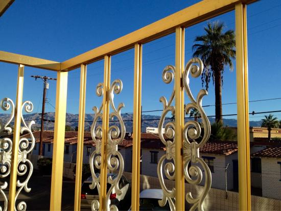 Royal Plaza Inn: Character and Style in Indio: View from Ultra-Cool Balcony