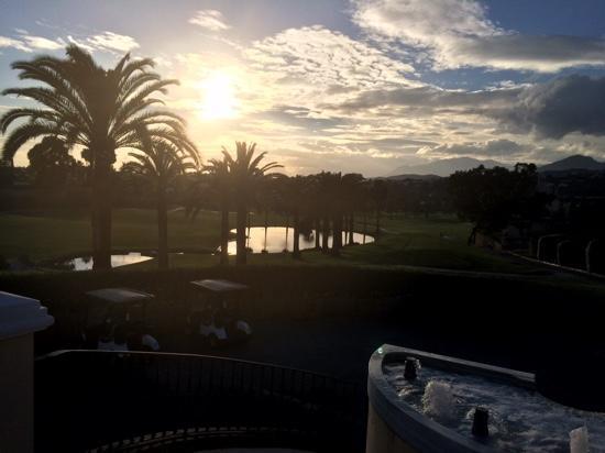Los Naranjos Golf Club: sun set over the 18th & 10th