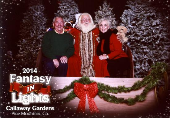Christmas village with santa picture of callaway gardens pine mountain tripadvisor for Callaway gardens fantasy in lights