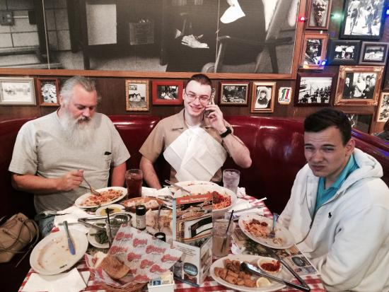 Thanksgiving Dinner With My Guys Picture Of Buca Di Beppo Italian Restaurant Wheeling Tripadvisor