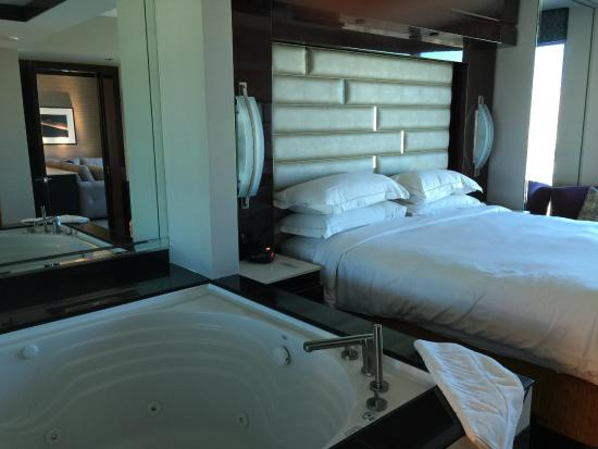 Elara By Hilton Grand Vacations: Bedroom And Hot Tub