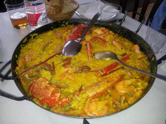 Cadavedo Spain  city photos : Restaurante Meson la Granda: Super paella de marisco con bogavante ...