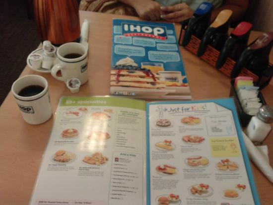 IHOP : carta