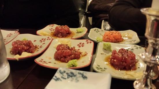Ichiban: Entree di tartare al tonno e salmone........
