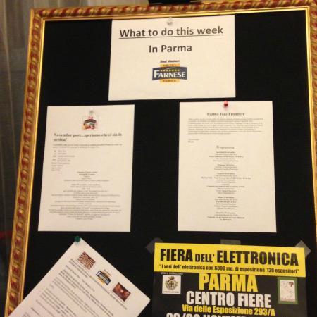 Best Western Hotel Farnese: Spazio dedicato alle info su eventi della zona