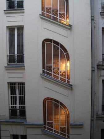 Hotel Palym: 2nd view of art deco windows