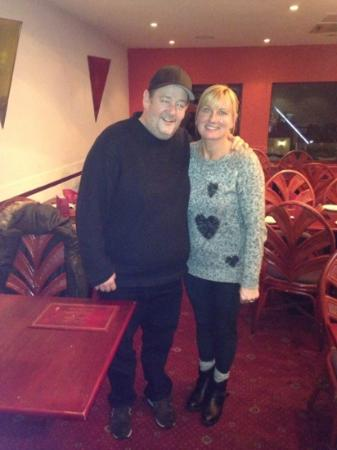 SHABAR BALTI RESTAURANT: johnny vegas upstairs he said great curry