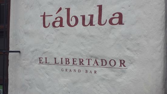 Tabula: Restaurant Sign