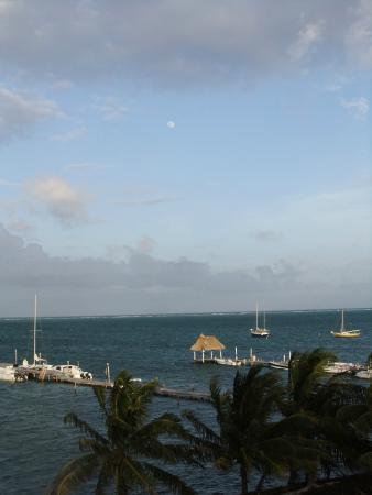Moonrise from Caye Caulker Condos top level