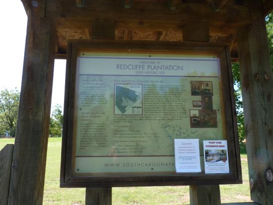 Redcliffe Plantation State : info sign