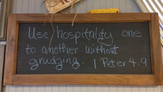 Transylvania, LA: Sign inside Farmhouse :)