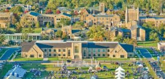 University of Tulsa : Aerial view of part of the campus
