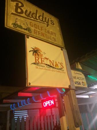 Reina's Pasties Pizza & Fast Food: The sign on middle st