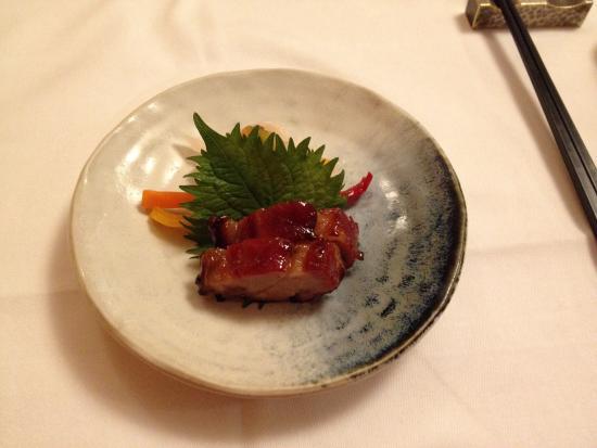 Mizonokuchi Heichinro Annex : 前菜の焼豚と野菜のマリネ